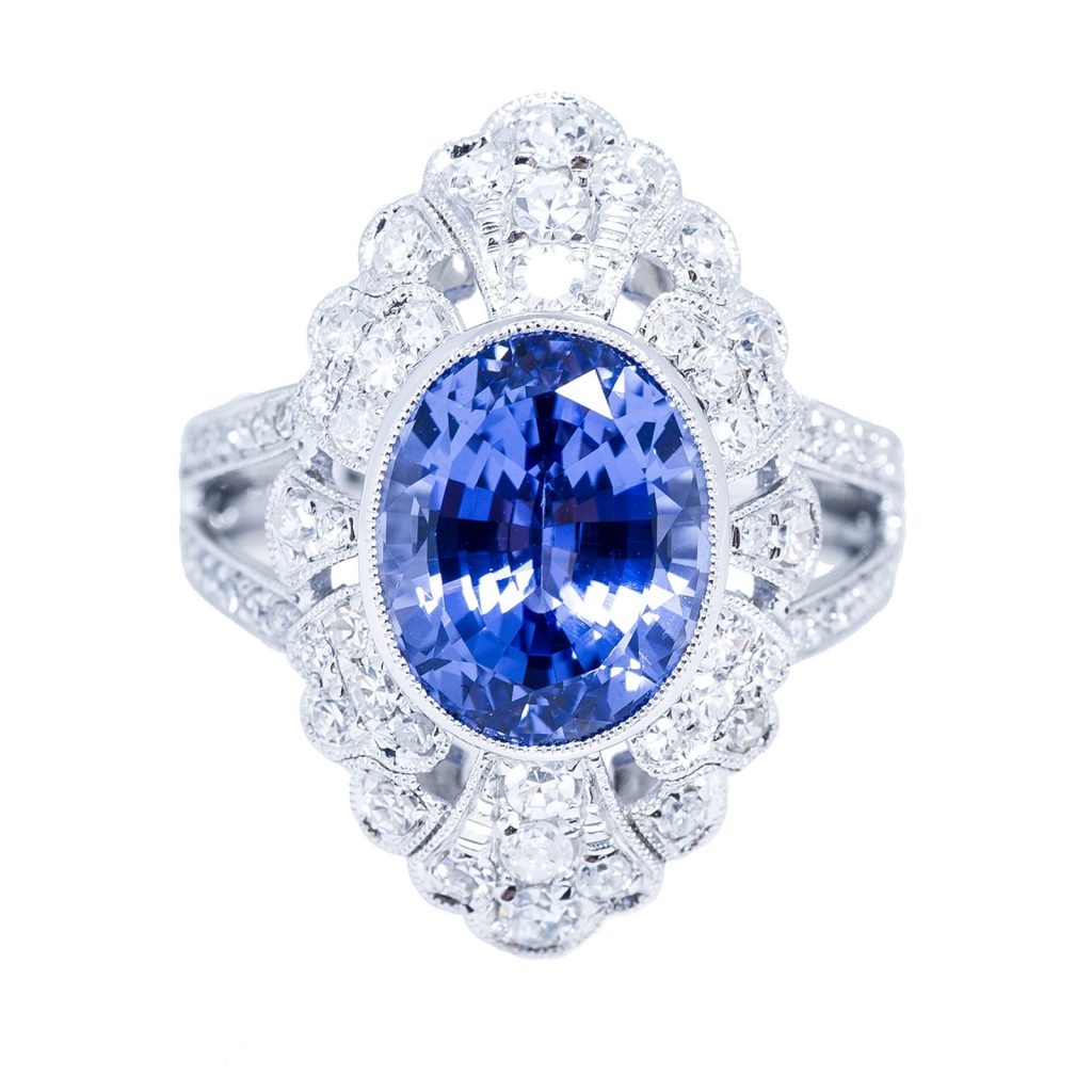 image of sapphire non-diamond engagement rings