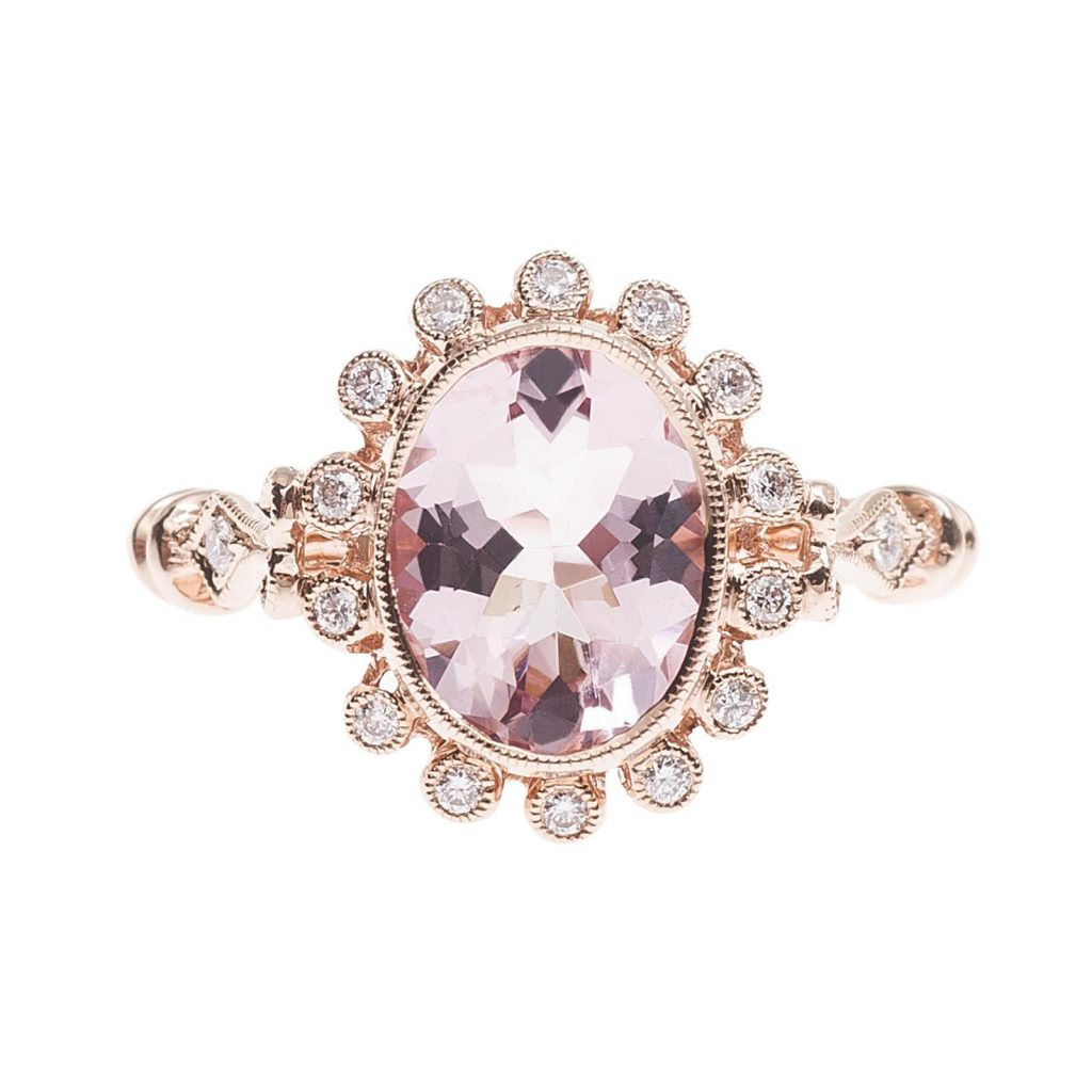 image of morganite non-diamond engagement rings