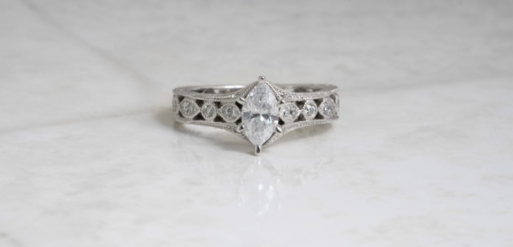 image of marquise engagement ring