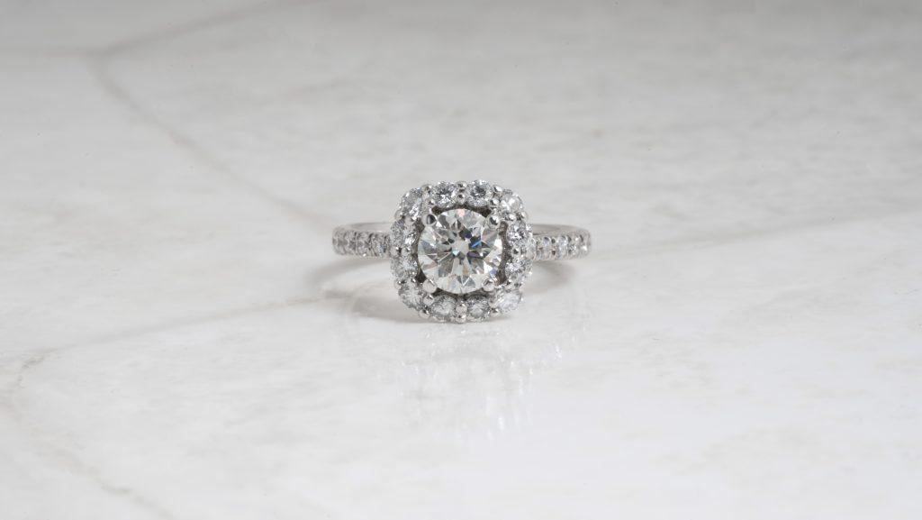 image of halo engagement ring