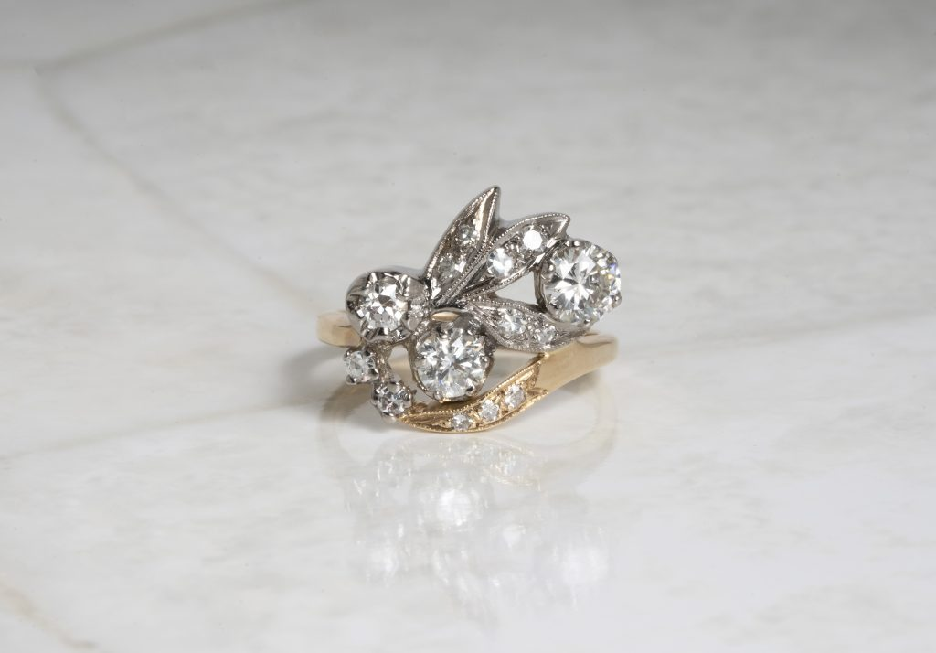 image of asymmetrical engagement ring trends