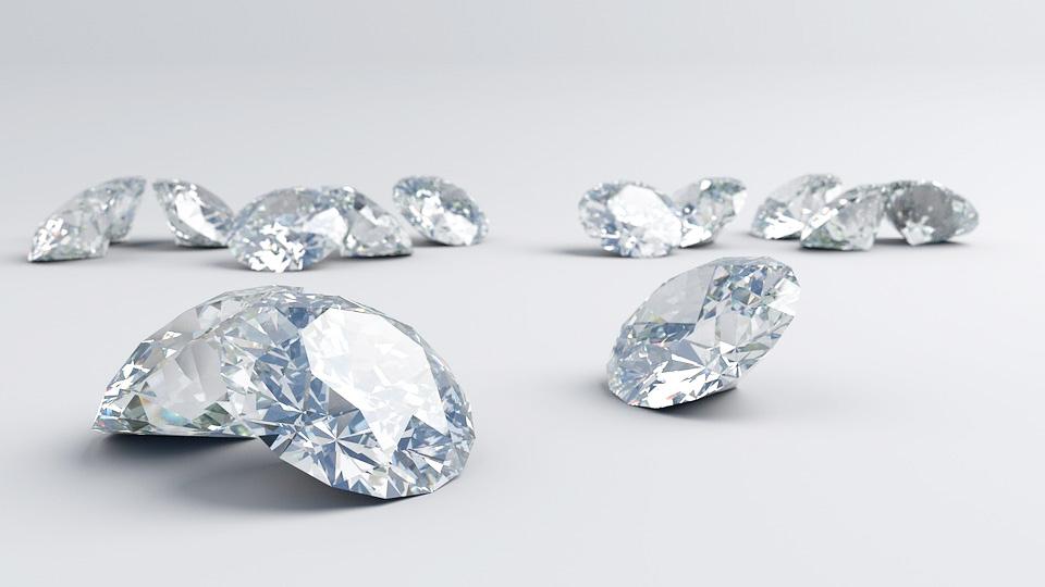 image of loose diamonds investing in diamonds