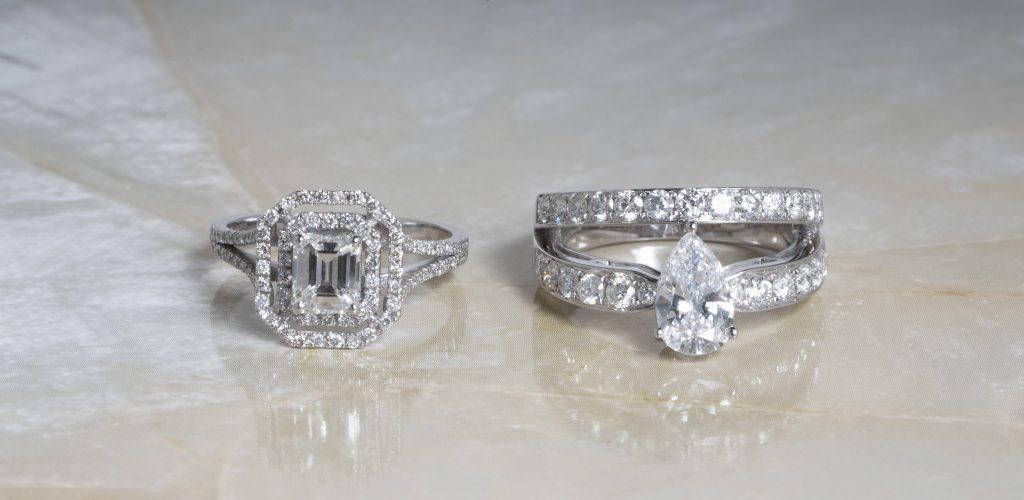 image of split shank engagement rings