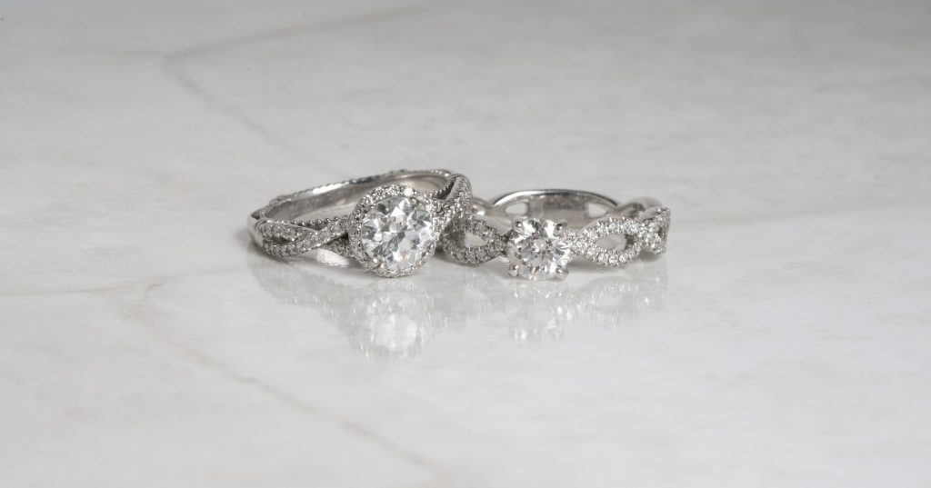 image of twisted bands engagement ring trends