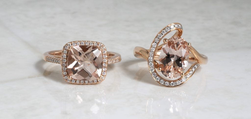 image of morganite engagement rings