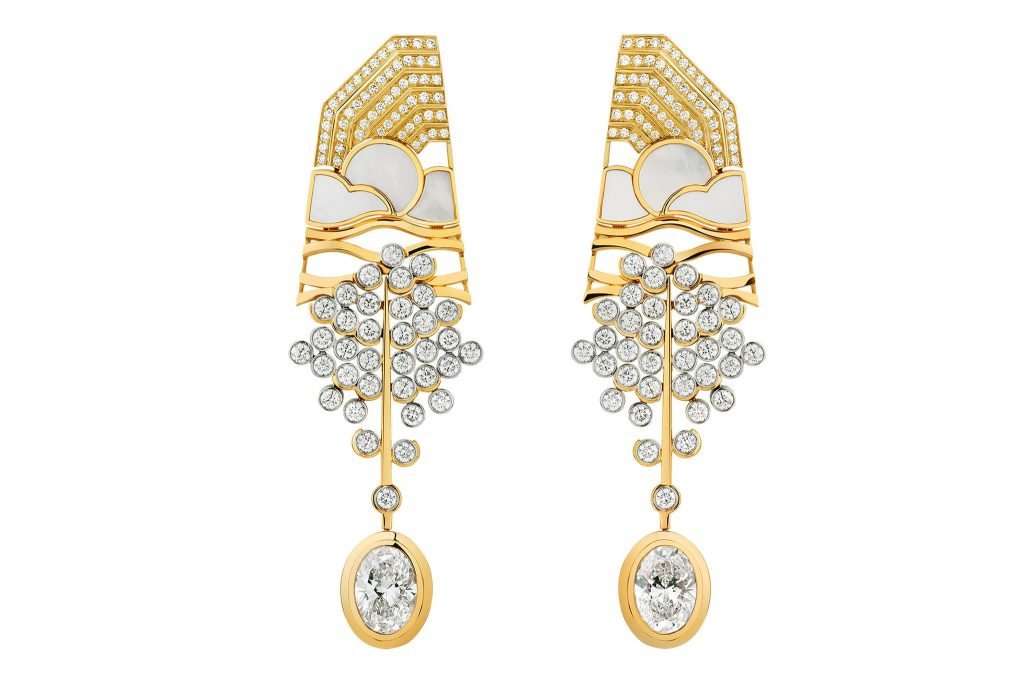 image of chanel high jewelry earrings