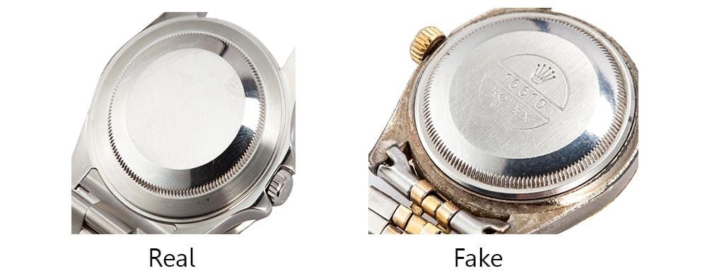image of rolex caseback identify fake rolex