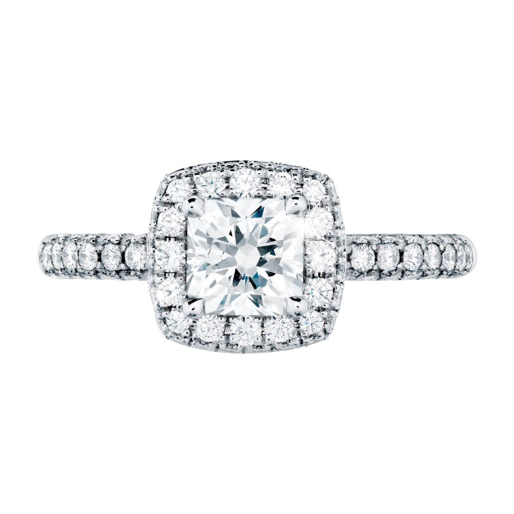 image of cushion cut halo ring classic engagement ring styles