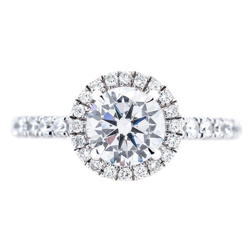 image of pave halo classic engagement ring styles
