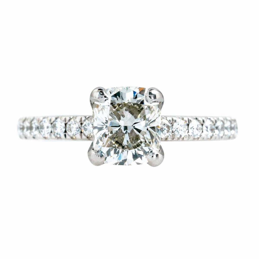 image of pave ring classic engagement ring styles