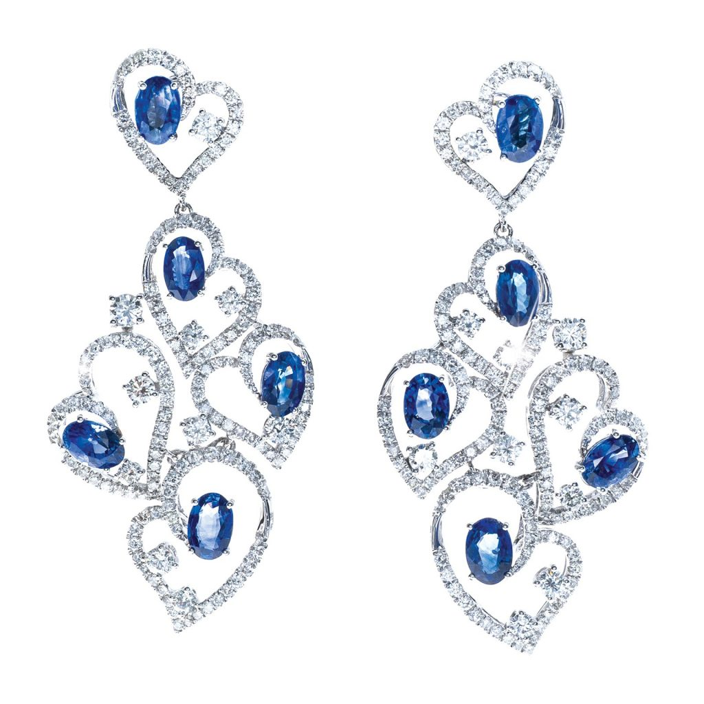 image of sapphire earrings wedding jewelry