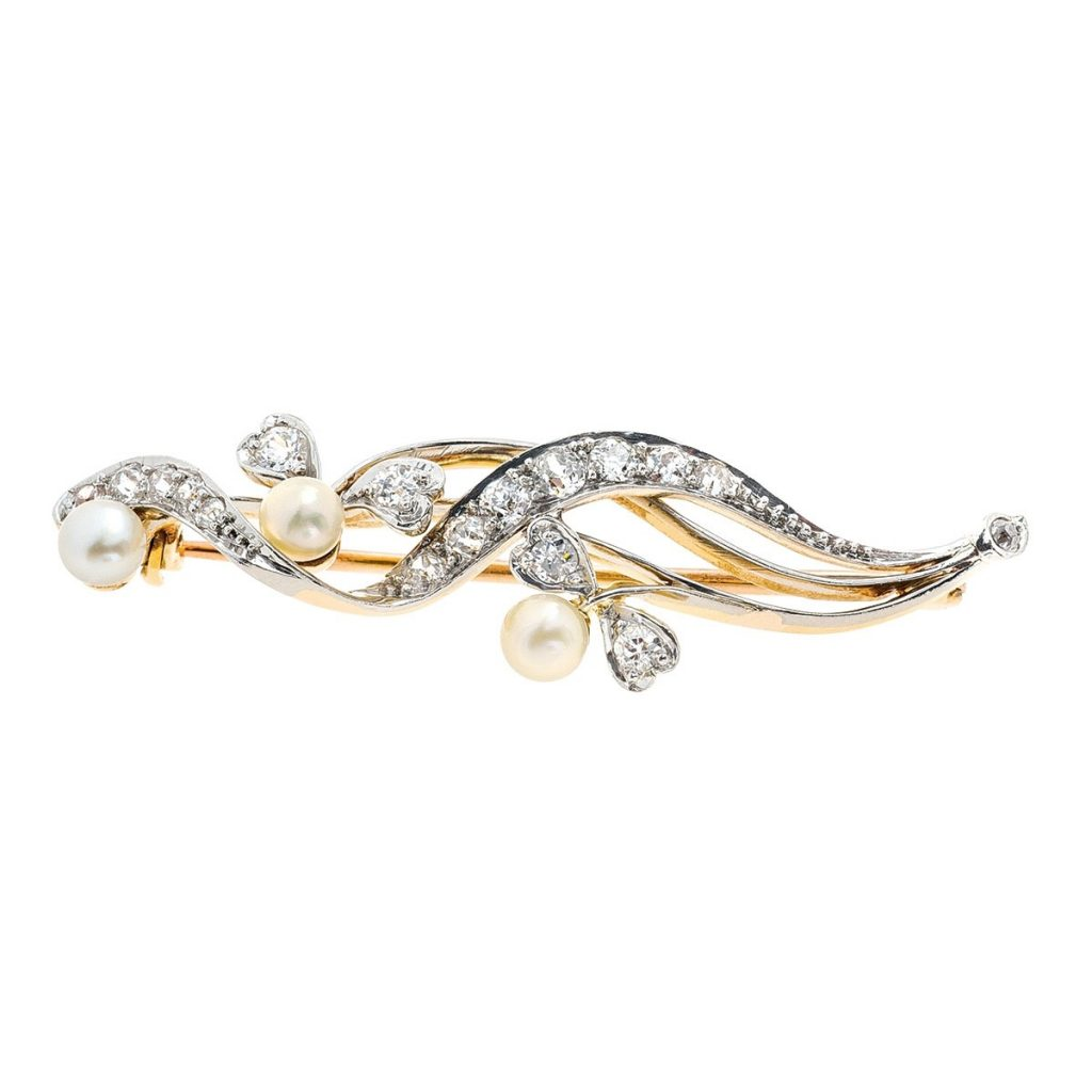image of pearl pin wedding jewelry