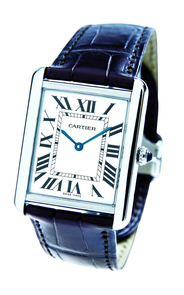 image of cartier tank dress watch
