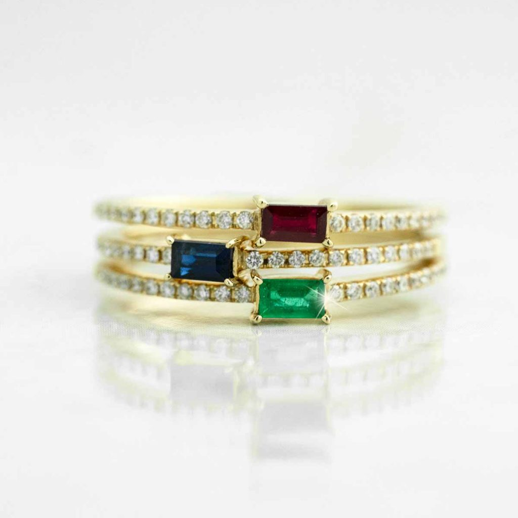 image of stackable wedding rings