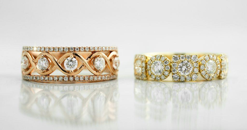 image of wide wedding rings