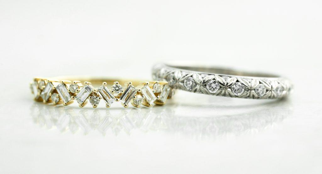 image of vintage unique wedding rings