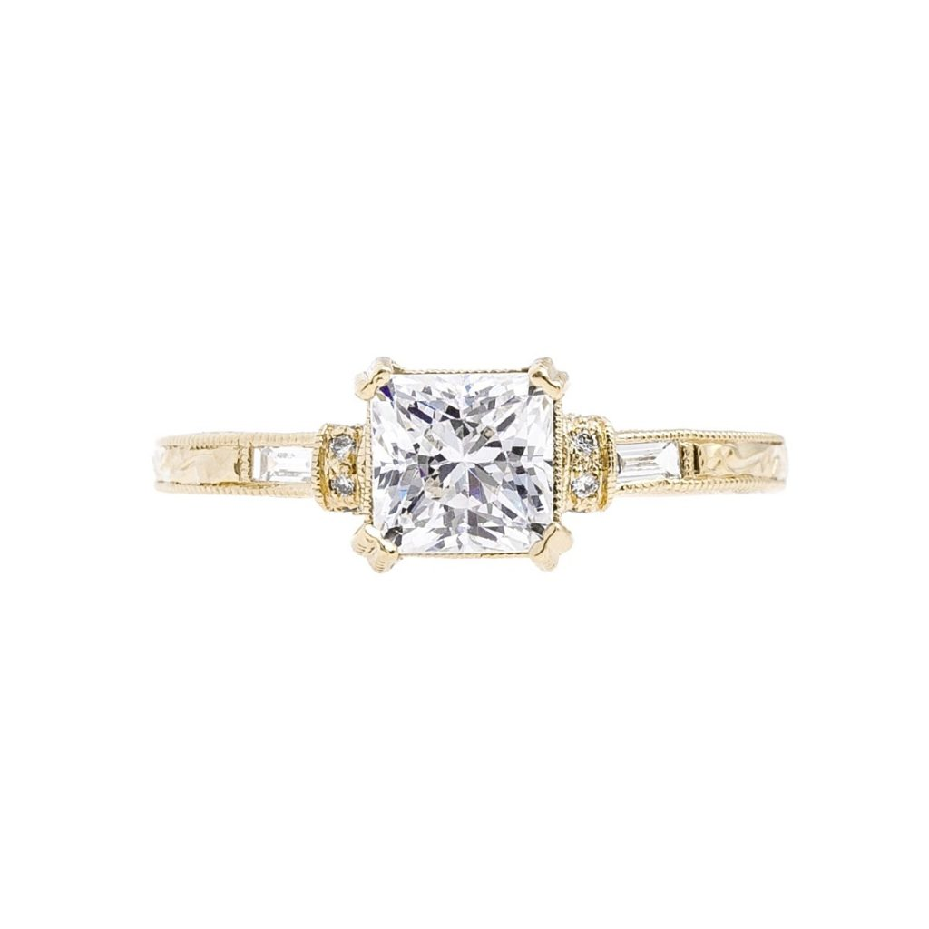 image of baguette diamond ring
