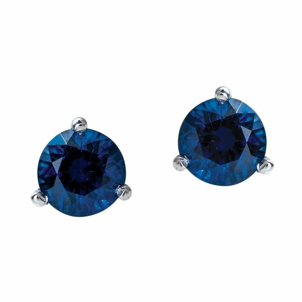 image of sapphire studs