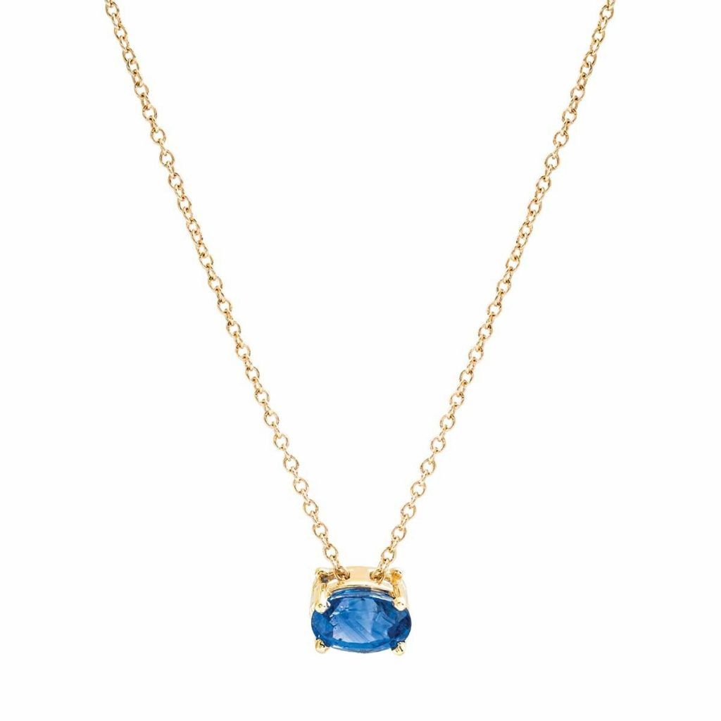 image of sapphire pendant necklace