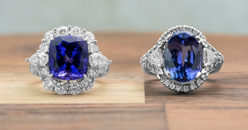 image of tanzanite rings