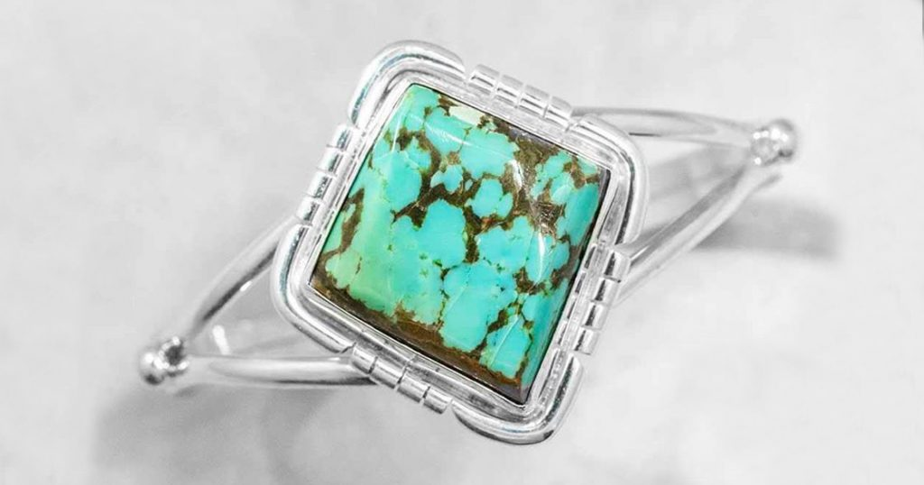 image of turquoise cuff bracelet