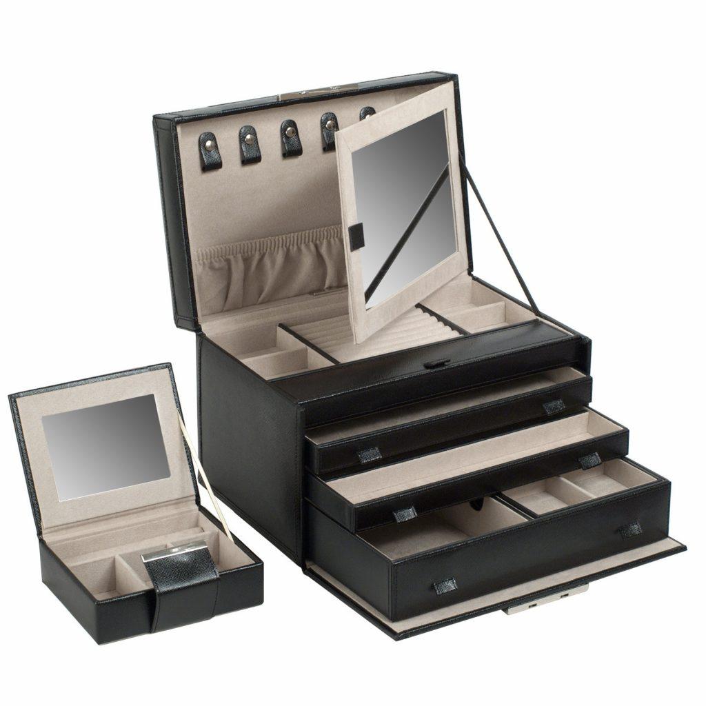 image of wolf jewelry box
