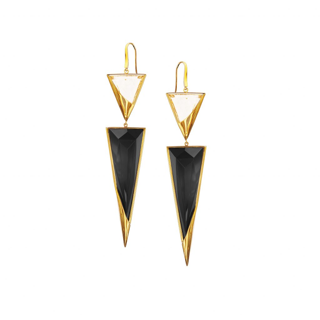 image of black onyx drop earrings