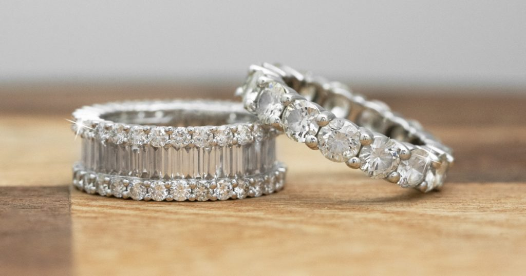 image of diamond eternity bands