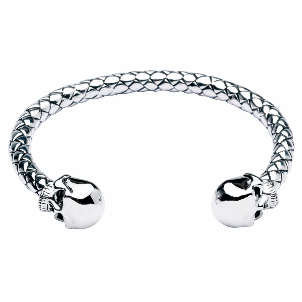 image of skull bangle bracelet
