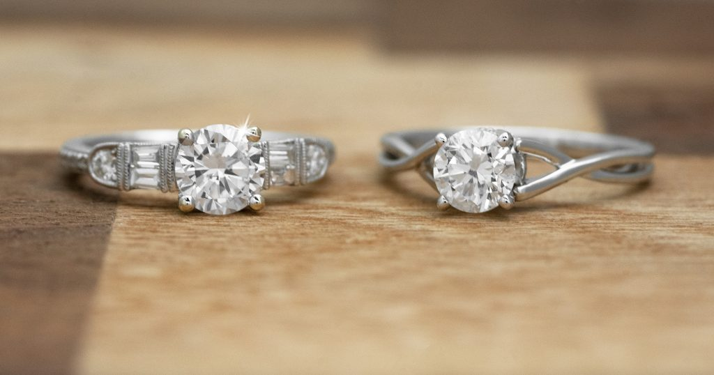 image of solitaire engagement rings