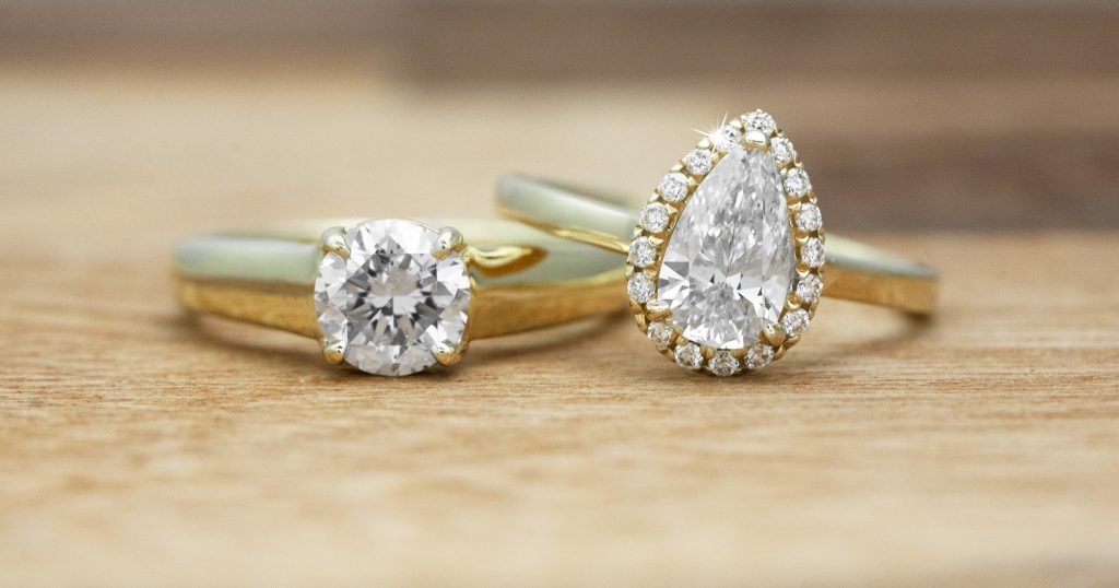 image of yellow gold engagement ring trends