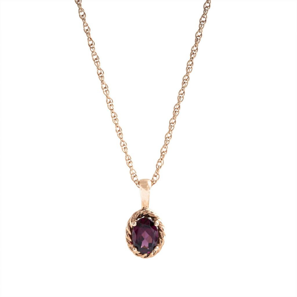 image of garnet necklace