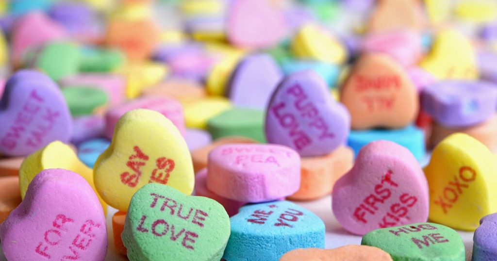 image of valentine's day candy hearts
