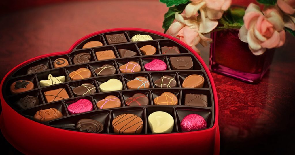 image of valentine's day box of chocolates