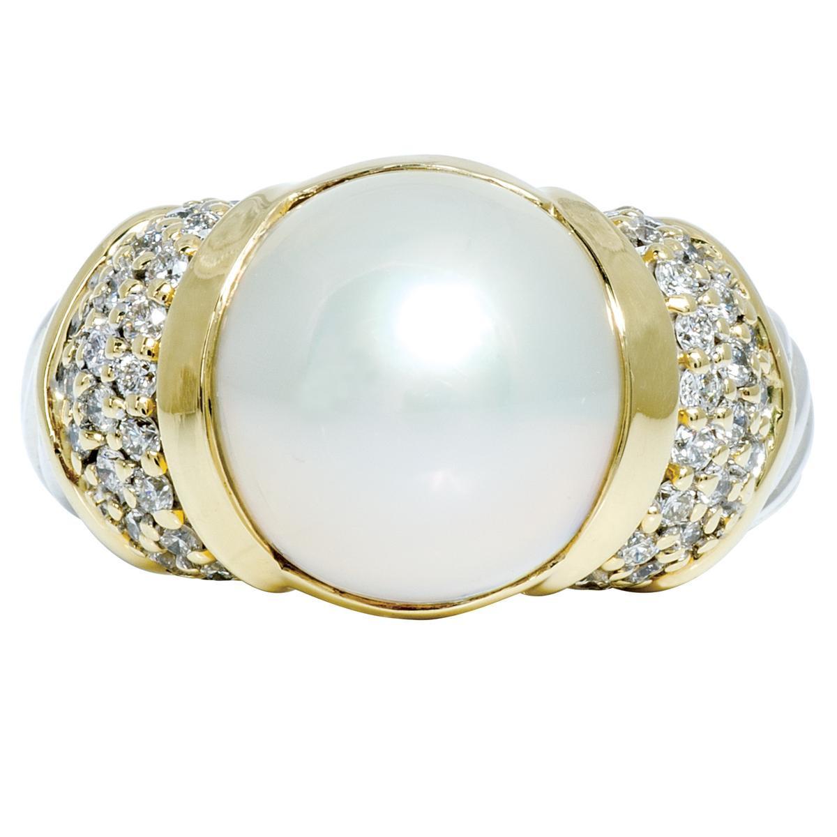 vintage david yurman mabe pearl ring