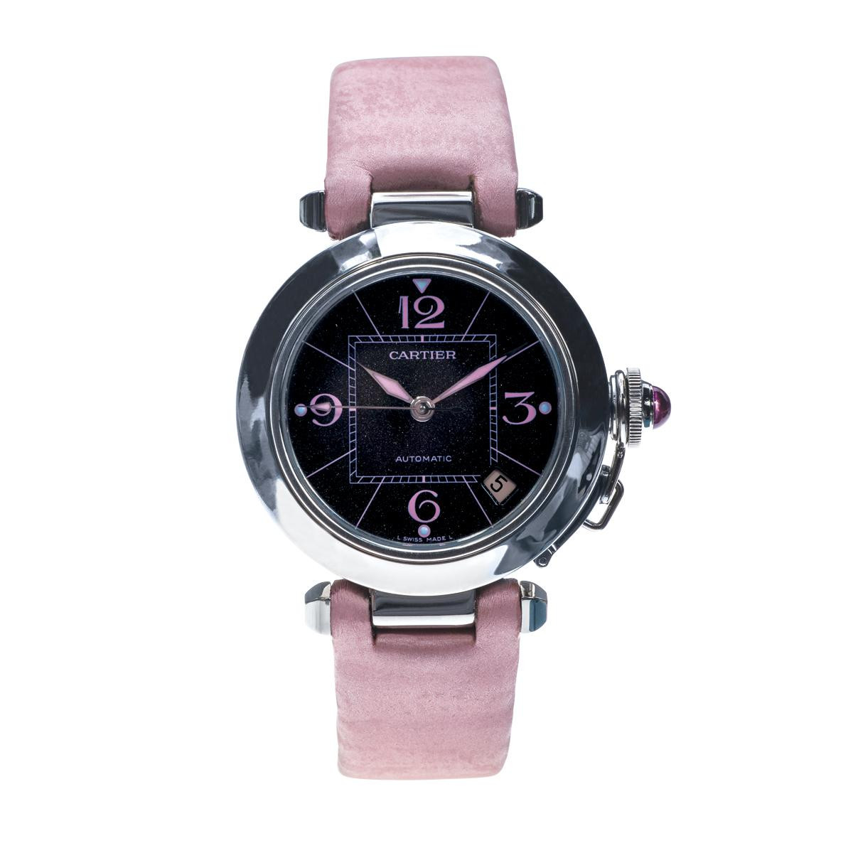 pre owned 35mm pink cartier pasha
