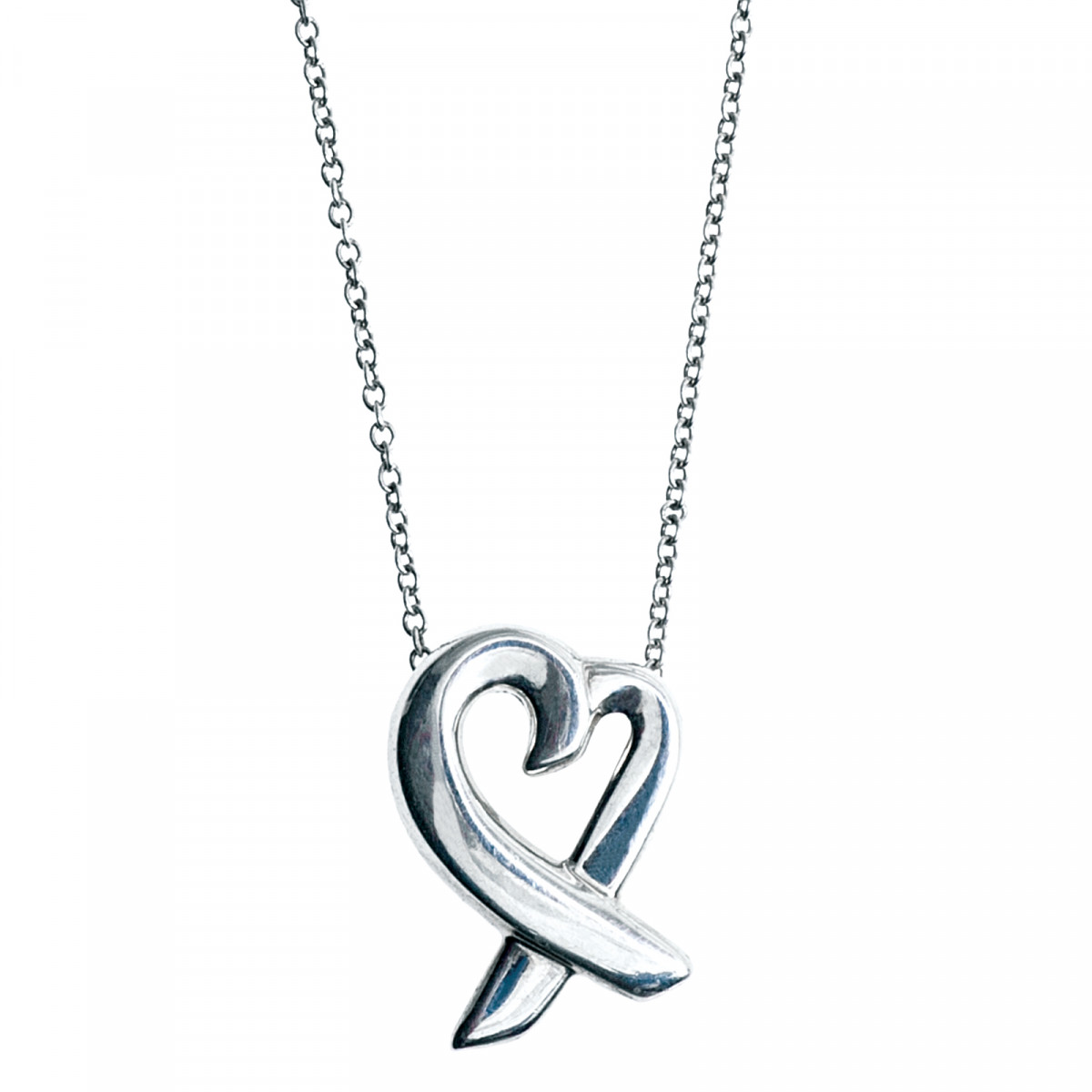 Paloma Picasso Loving Heart pendant in sterling silver with a diamond Tiffany & Co. 8XIx6z