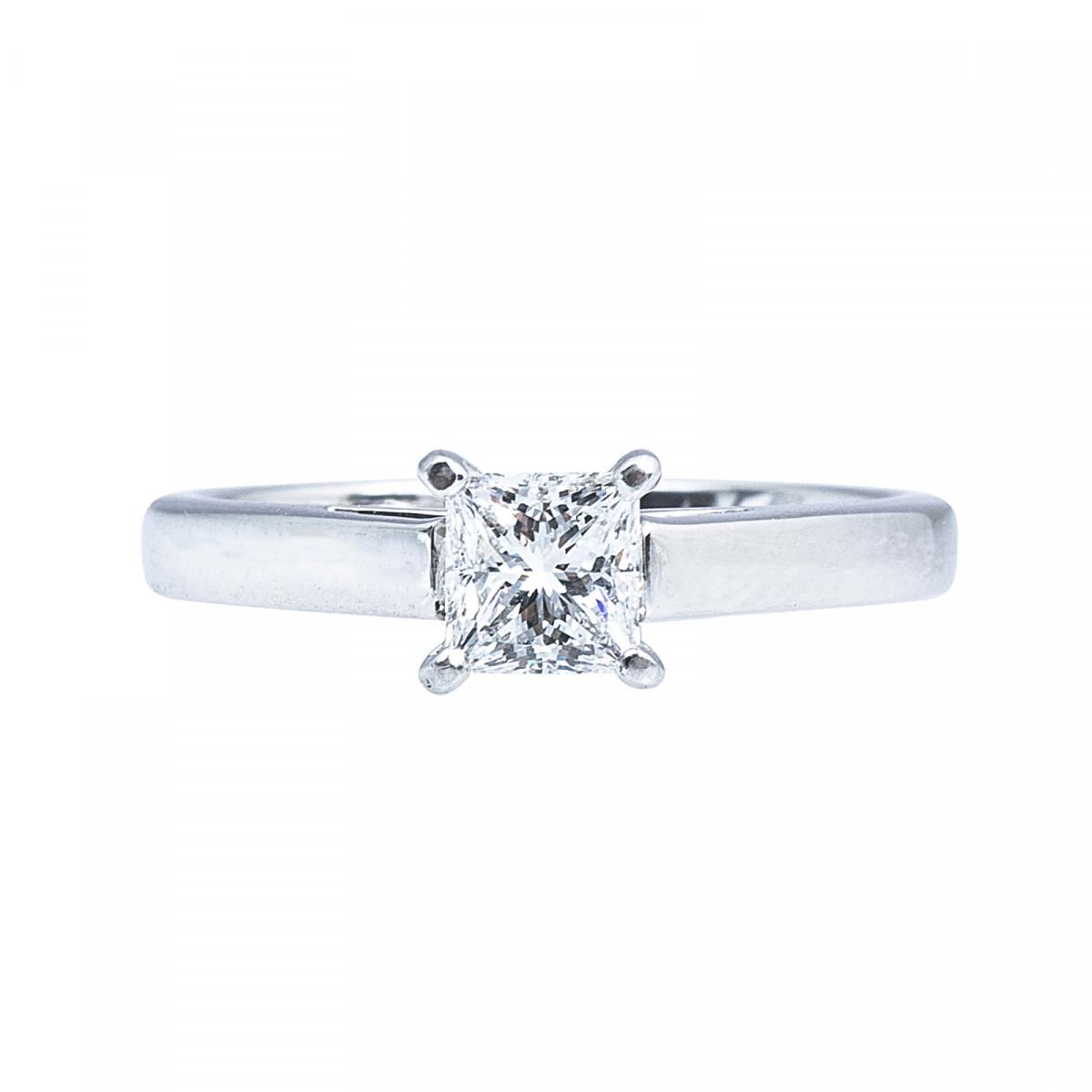 vintage 0 53 ct princess cut engagement ring