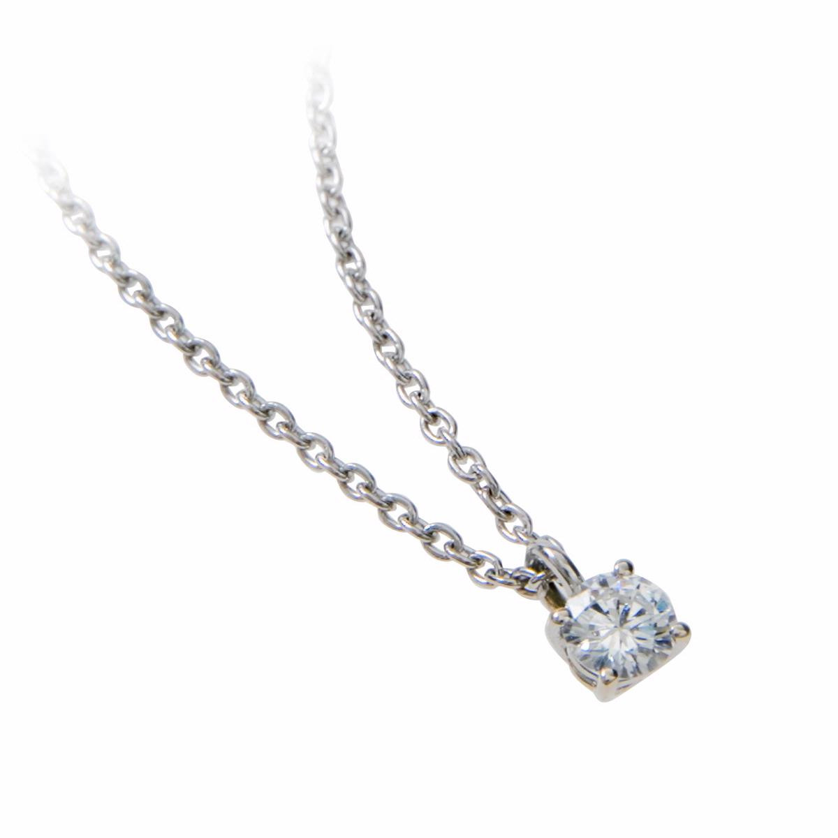 Vintage 0.20 Ct Diamond Solitaire Necklace