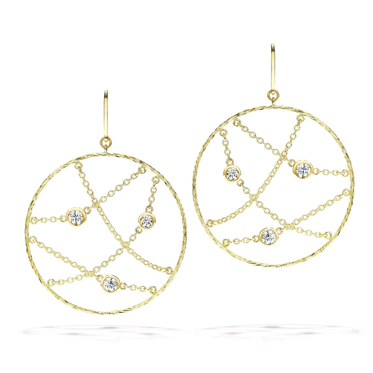 Hearts On Fire® Obsession Circle 0.46 CTW Diamond Earrings