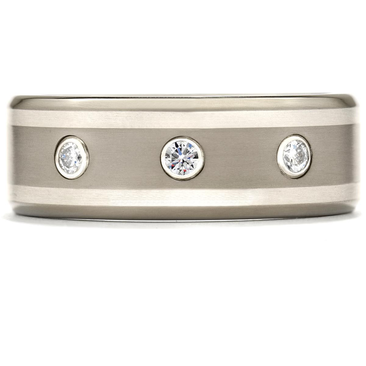 New Hearts On Fire® Titanium Diamond Wedding Band