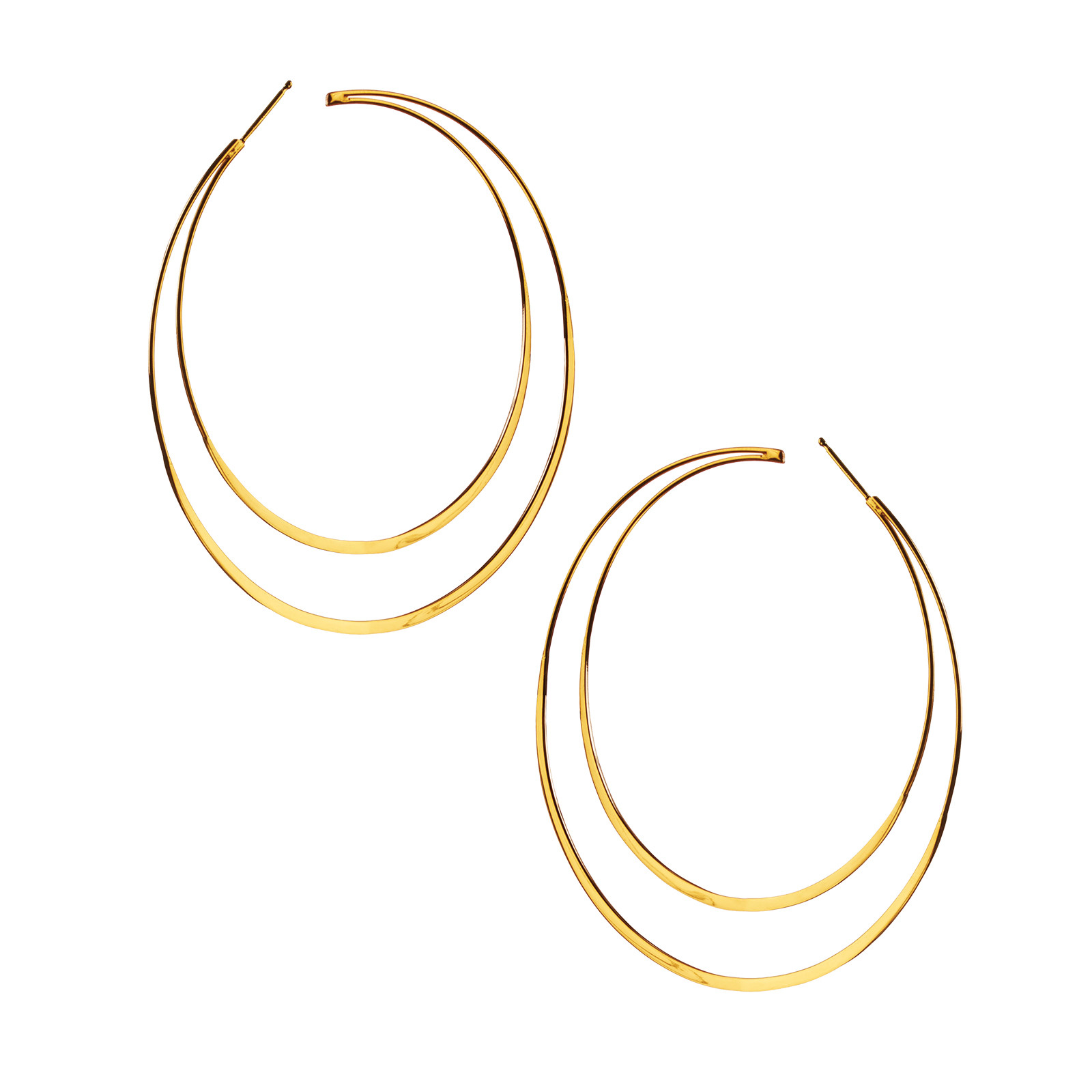 New Lana Jewelry Double Hoop Earrings