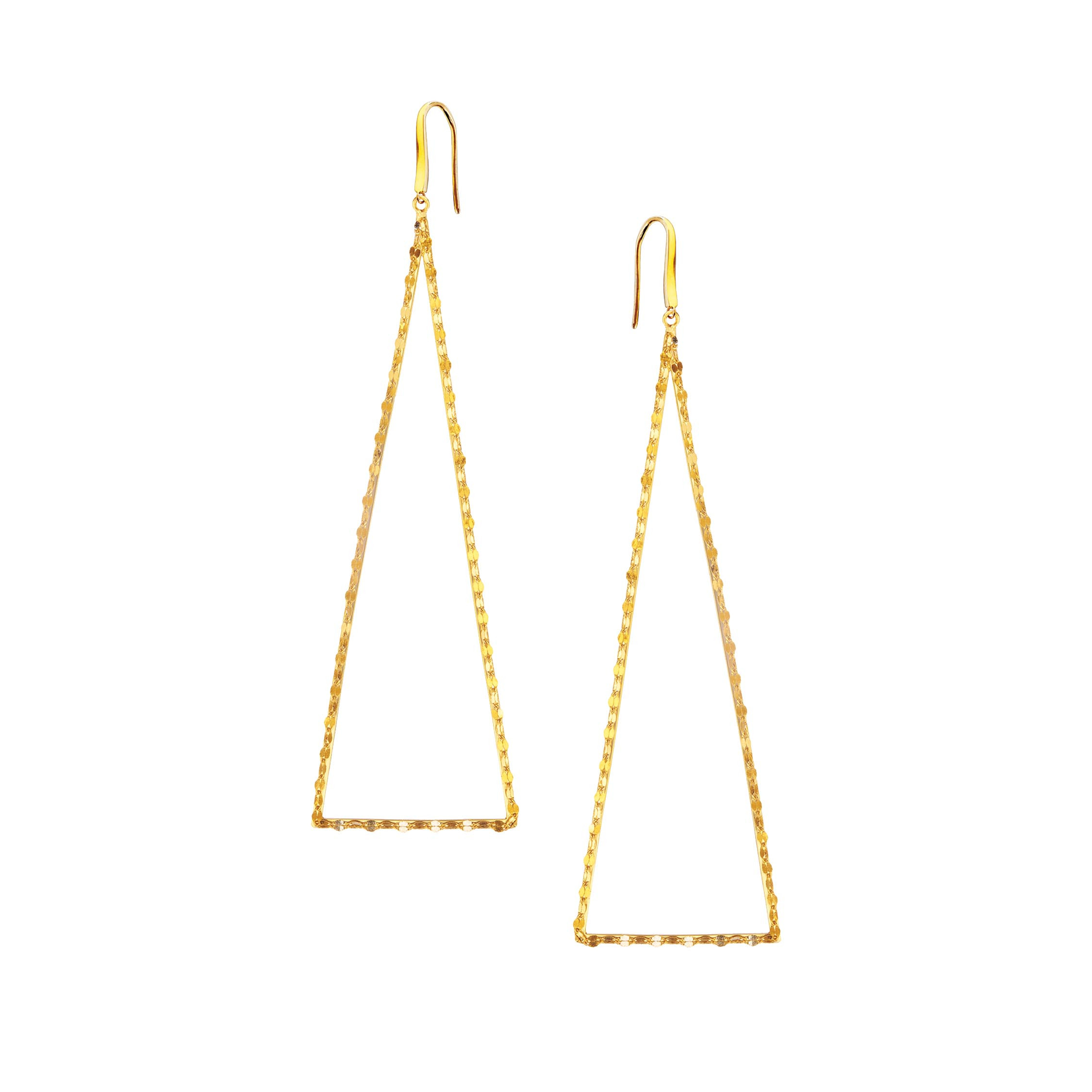 New Lana Small Triangle Silhouette Earrings