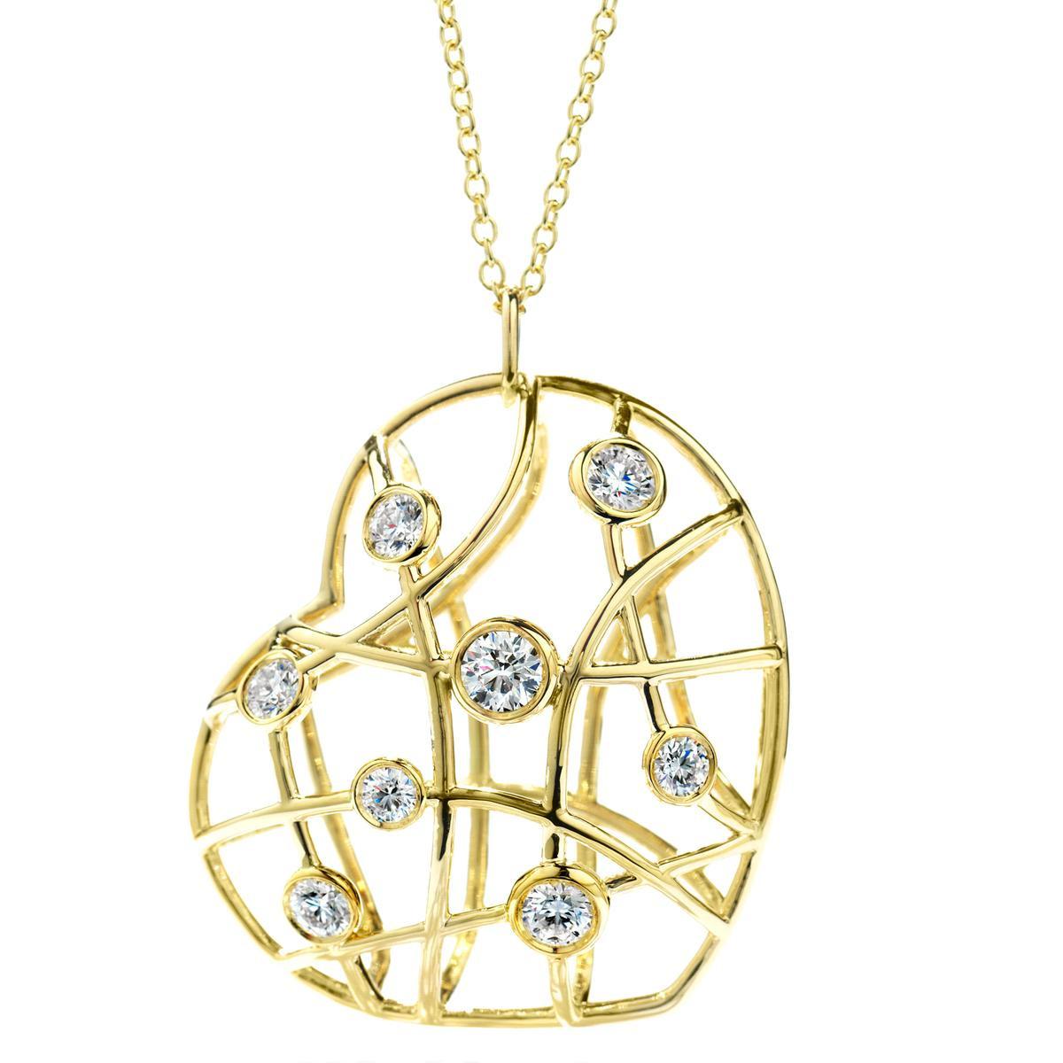 New Hearts On Fire® 1.18 CTW Diamond Brocade Heart Pendant