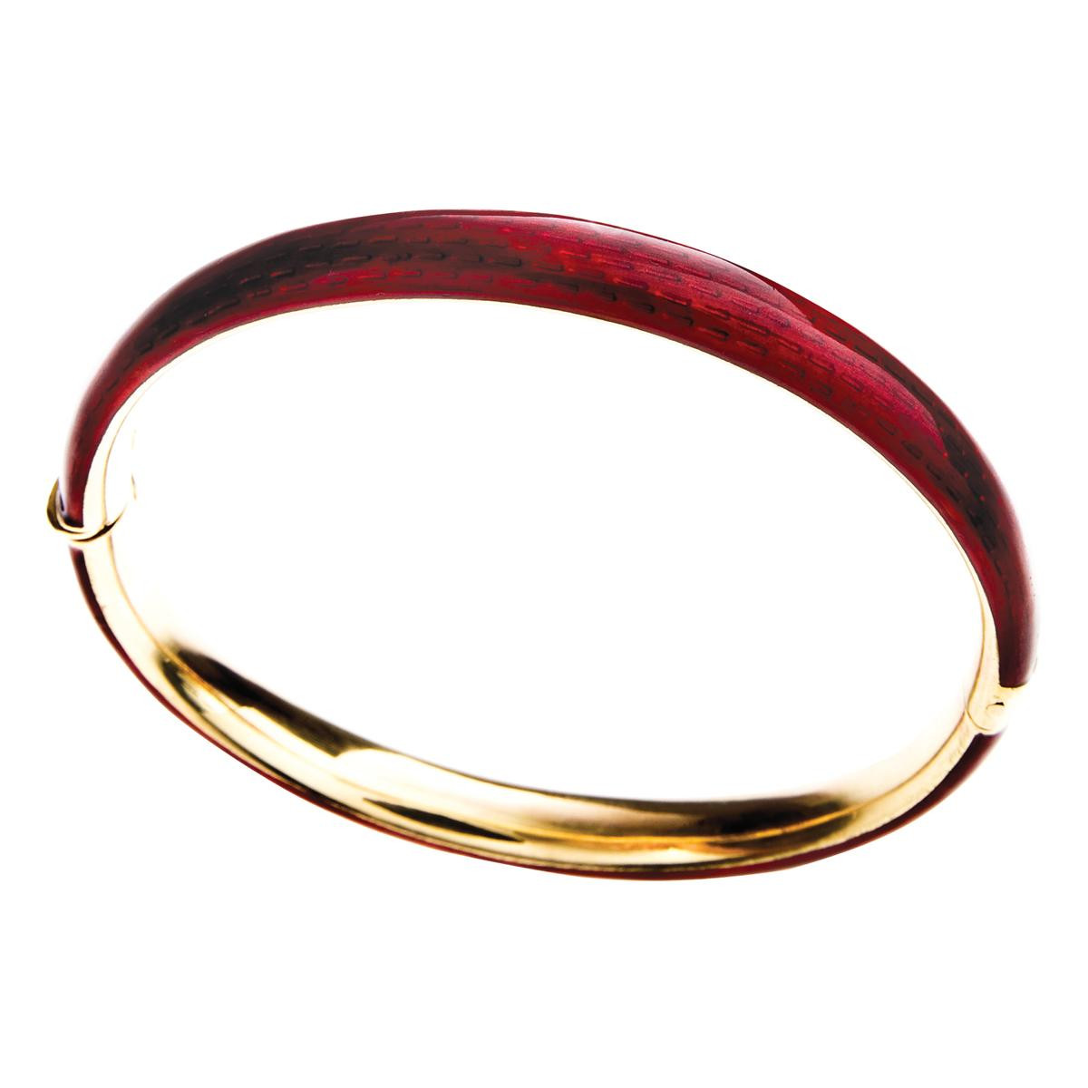 Vintage Red Enamel Bangle