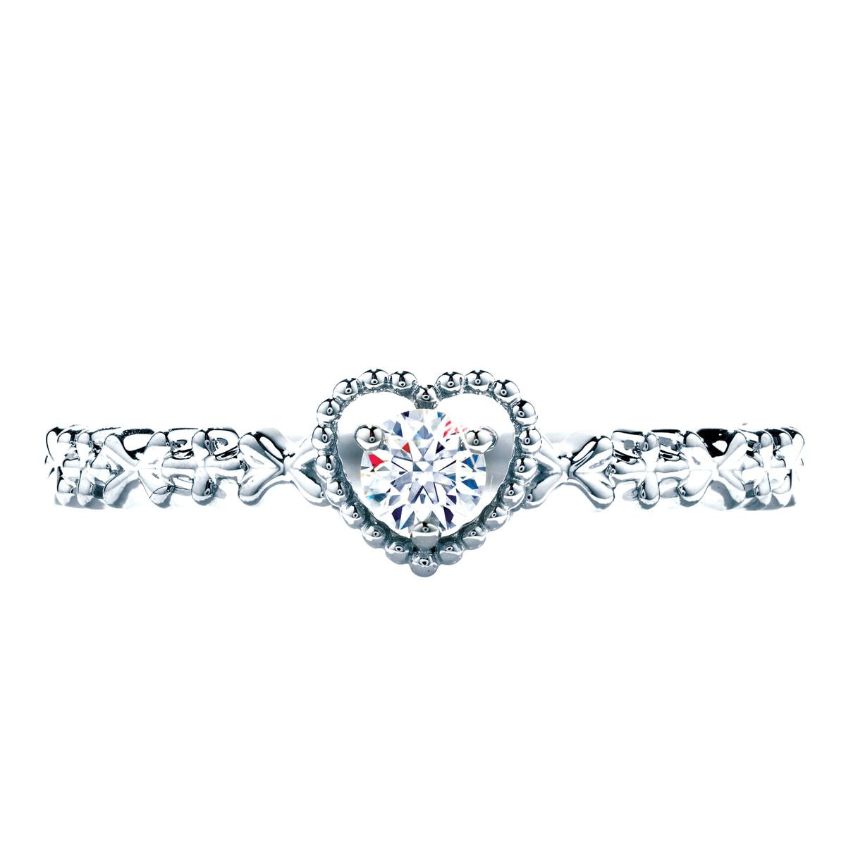 New Hearts On Fire® Petite Beaded Diamond Heart Solitaire Ring