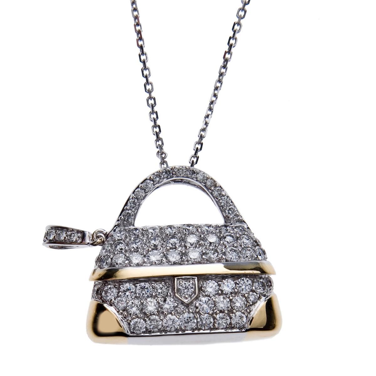 Vintage Mirabelle 1.24 CTW Diamond Purse Charm