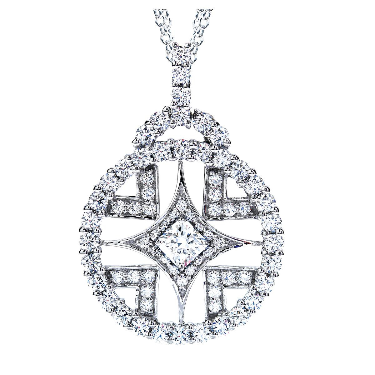 New Hearts On Fire® 1.50 CTW Diamond Elation Pendant