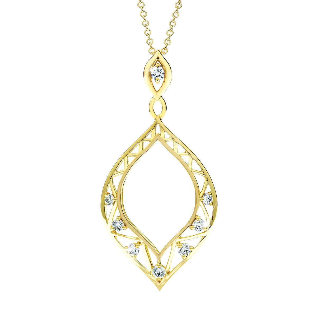 New Hearts On Fire® 0.43 CTW Diamond Provocative Teardrop Pendant