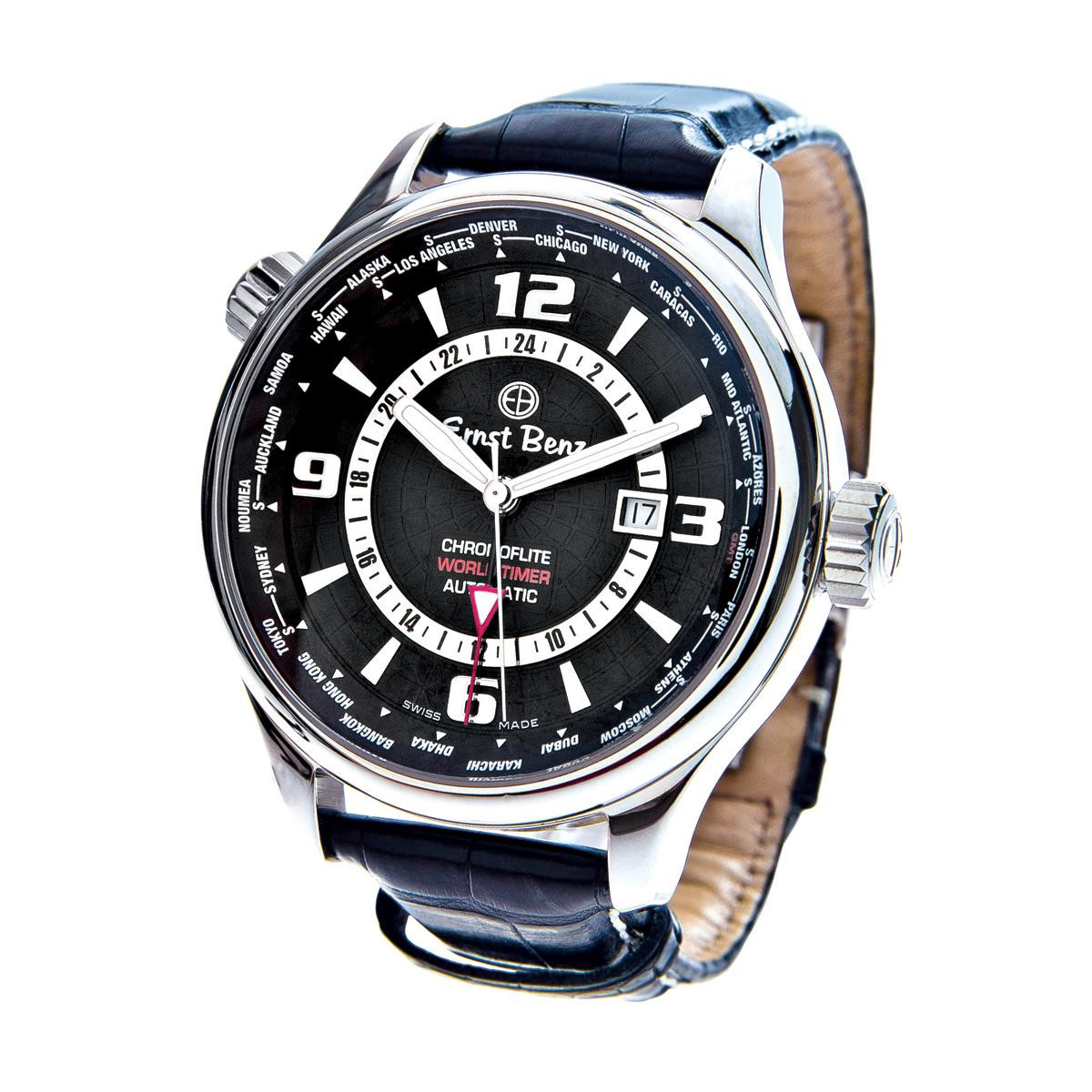 Preowned Ernst Benz ChronoFlite World Timer Watch
